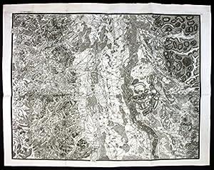 Breisach Freiburg Colmar Selestat Kupferstich Karte map