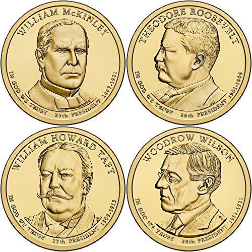 2013 D 2013 Presidential Dollar 4-Coin D Mint Uncirculated