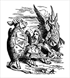 Alice, the Mock Turtle and the Gryphon poster
