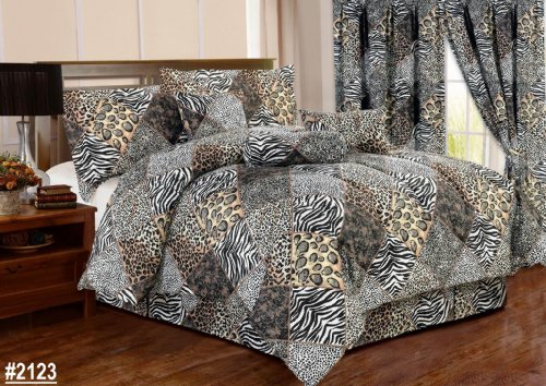7 Piece Animal Safari Comforter Set