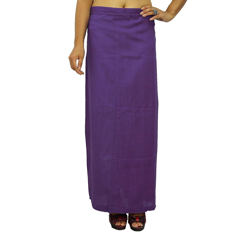 Inskirt Futter für Sari Ethnische indischen Fertig Solide Baumwolle Petticoat