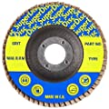 "Sundisc 11057 Type 29 High Density Abrasive Super Flap Disc, X Weight Poly/Cotton Blend, Zirconia, 7"" Diameter, 60 Grit, 7/8"" Arbor (Pack of 5)"