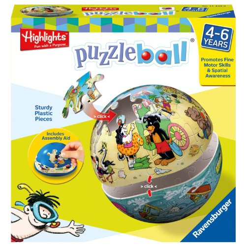 Ravensburger Highlights Land and Sea 24-Piece Puzzleball - 1