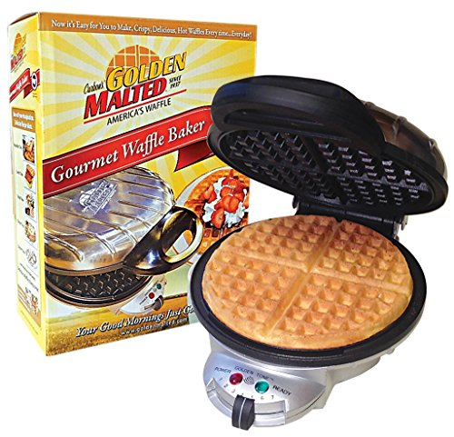 Best Review Of Carbon's Golden Malted Gourmet Waffle Baker