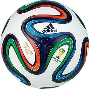 adidas Brazuca Top Replique X-Mas Ballon de foot White/Night Blue F13/Multicolor Taille 5
