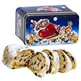 Oebel Christstollen with Marzipan Filling - 200gr/7.14oz in Beautiful Santa Claus Giftbox