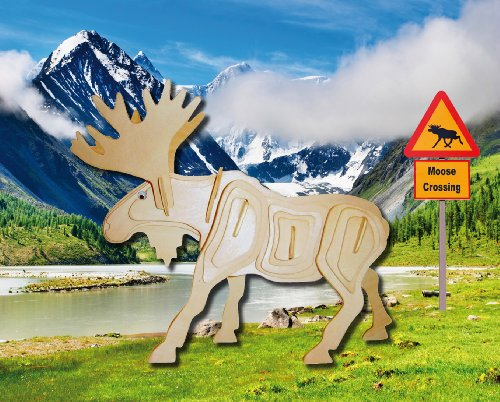 Puzzled Moose Wooden 3D Puzzle Construction Kit - 1