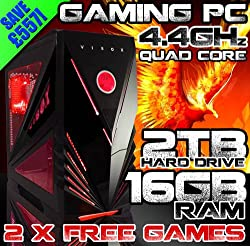 VIBOX Warrior 4 *** DEAL *** - Top Gaming PC, Multimedia, High Spec, Desktop, PC, USB3.0 Computer, - PLUS X2 FREE GAMES! ( New 4.4GHz Overclocked AMD, FX 4170 Fast Quad Core Bulldozer Processor, 2GB ATI Radeon HD 7850 Graphics Card, Xigmatek 600W PSU, 2TB HDD Hard Drive, 16GB DDR3 RAM, No Operating Software )