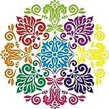 "Diwali Rangoli DIY Stencil (15"" x15"")"
