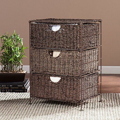 Upton Home Kerry Seagrass 3-Drawer Storage, OS1230ZH
