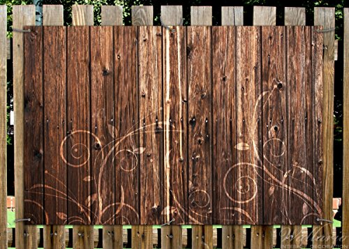 Wallario Garten Poster Outdoor Poster Holz In