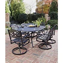 Big Sale Home Styles 5554-335 Biscayne 7-Piece Outdoor Dining Set, Black Finish