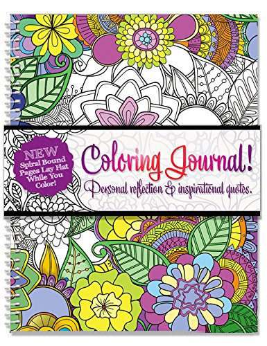 Adult Coloring Journal - An Adult Coloring Journal with Inspirational Quotes - Spiral Bound - 6.25