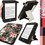 IGadgitz Bi-View' Textured Finish PU Leather Case Cover for Amazon Kindle Paperwhite - Pink/Black