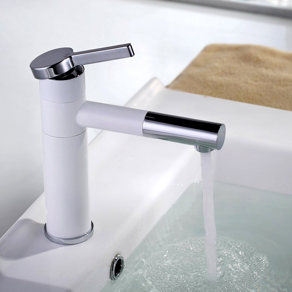 CMYK Moderne Waschtischarmatur Badarmatur Waschbecken Wasserhahn Weiß lackiert  Baumarkt Kritiken und weitere Infos