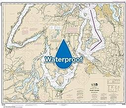NOAA Chart 18448 Puget Sound-southern part 343 X 403 WATERPROOF