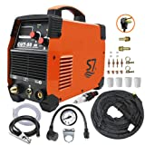 Plasma Cutter, 50A Inverter AC-DC IGBT Dual Voltage (110/220V) Cut50 Portable Cutting Welding Machine With Intelligent Digital Display With Free Accessories Easy Cutter Welder . (Color: Orange, Tamaño: 33*39*16)