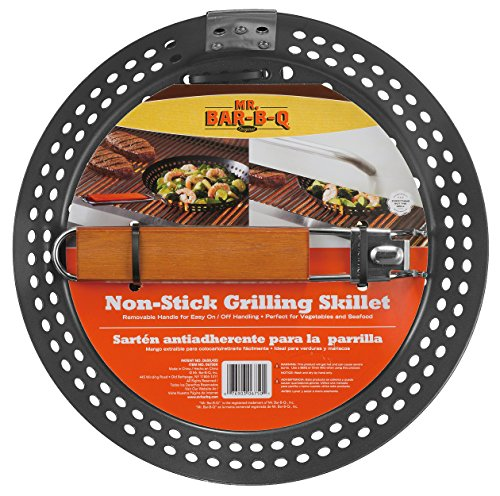 Mr. Bar-B-Q 06750X Non Stick Grilling Skillet with Removable Handle (Handle Removable Pan compare prices)