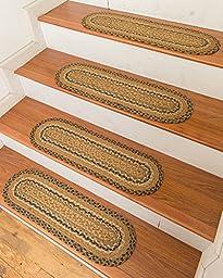 NaturalAreaRugs Florida Jute Carpet Stair Treads, 9-Inch x 29-Inch (Set of 13)
