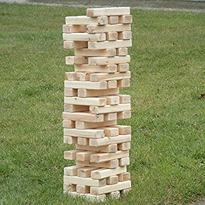 1.2m Giant Jenga Wooden Tumbling Tower Game Outdoor Garden
