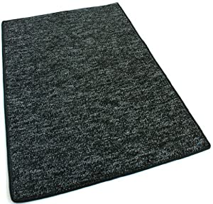 """3'X1'6"""" HALF ROUND - Charcoal - Indoor/Outdoor Area Rug Carpet, Runners & Stair Treads with a Premium Nylon Fabric FINISHED EDGES."""
