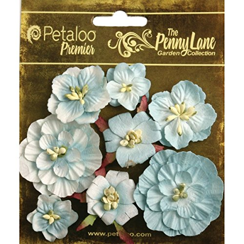 Penny Lane Mixed Blossoms 8/Pkg-Robin's Egg Blue
