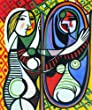 Picasso - Girl Before a Mirror Oil Painting on Canvas Repro 20x24""