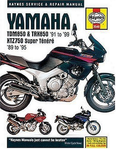 Yamaha TDM850 & TRX850 '91 to '99 - XTZ750 Super Tenere '89 to '95 Service & Repair Manual (Haynes Manuals)