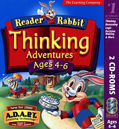 Reader Rabbit Thinking Adventures Ages 4-6