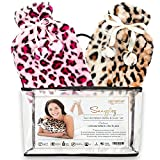 Hot Water Bottle & Cover - Set of 2 Hot Water Bottles & Furry Animal Print Covers for Hot & Cold Relief - Meet Snugglez