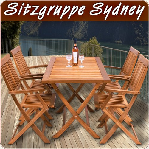 Wooden garden furniture set table chairs set tropical acacia wood FSC dining furniture