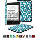 Fintie Kindle Paperwhite SmartShell Case - [Oriental Breeze Series] The Thinnest and Lightest Leather Cover for All-New Amazon Kindle Paperwhite (Fits All versions: 2012, 2013, 2014 and 2015 All-New 300 PPI Versions with 6