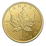 【1/20オンス メイプルリーフ金貨】 メイプル金貨 1/20オンス 2015年製 カナダ王室造幣局発行 1.55gの純金 24金 ゴールド コイン 保証書付き