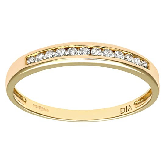 Naava Ladies 9ct Yellow Gold 10Pts Diamond Eternity Ring