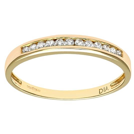 Naava Ladies 9ct Yellow Gold 10Pts Diamond Eternity Ring