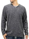 (ルイシャブロン) LouisChavlon 大きいサイズ Tシャツ メンズ ブランド 長袖 ロンT 無地 Vネック 4color 3L ブラック