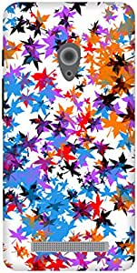The Racoon Grip Rainbow Leaves hard plastic printed back case / cover for Asus Zenfone 5 A500CG/A501CG
