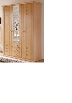 LIEFERUNG in die WOHNUNG - 2023.4423: Seniorenschrank - Buche dekor - Kleiderschrank - B/H/T ca. 135 (inklusive Kranz ca. 145cm)/205/56 cm