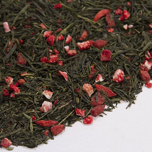 Green Tea With Gojiberry Flavored Loose Leaf Green Tea Certified