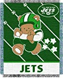 "New York Jets NFL Triple Woven Jacquard Throw (Baby Series) (36""x46"")"