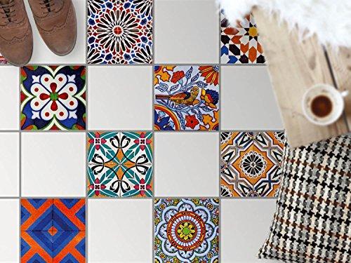 fliesen mosaik klebe folie sticker aufkleber badfolie k chen fliesen fu boden deko 33 3x33. Black Bedroom Furniture Sets. Home Design Ideas