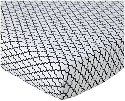 Oliver B Crib Sheet - Navy Trellis