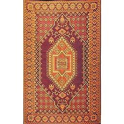 Mad Mats® Turkish Indoor/Outdoor Floor Mat, 2.5 by 8 Feet Runner, Rust