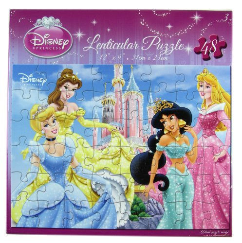 Princess Puzzle Set - Disneys Princess Lenticular Puzzle Set (48pcs) - 1