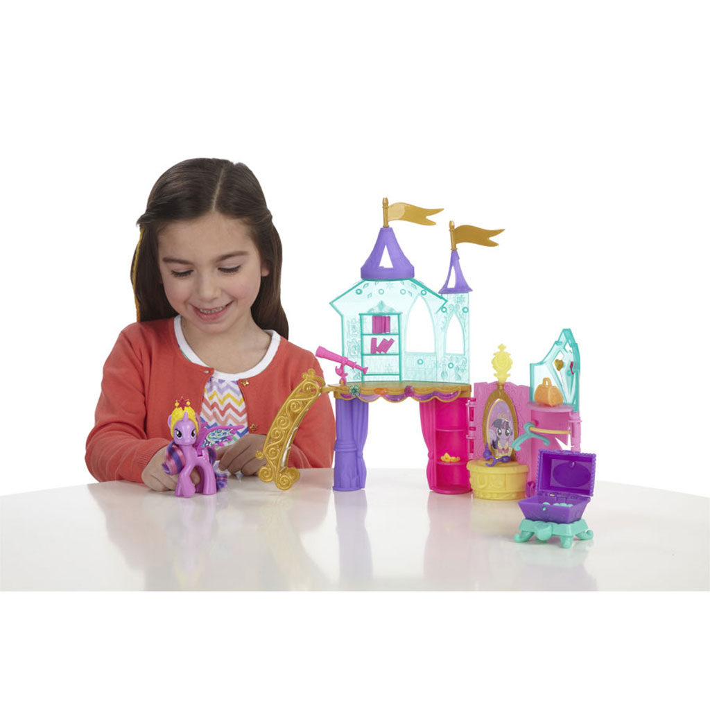 My little pony crystal castle palace playset princess for Little princess castle