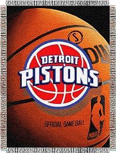 Northwest Detroit Pistons Acrylic 48x60 Throw by Northwest