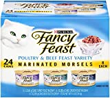 Fancy Feast Marinated Morsels Cat Food Variety Pack, Poultry and Beef, 4.50-Pound