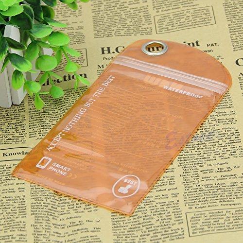 Bestdeal® Wasserdichte Hülle Tasche Case für Mobile Handy Kamera (Orange)