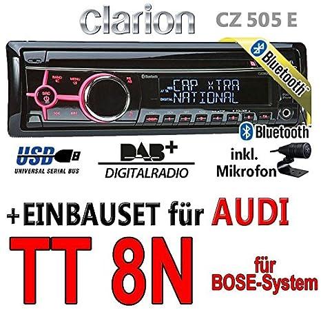 Bose/audi tT 8N pour autoradios clarion cZ505E-bluetooth/dAB pour autoradio numérique