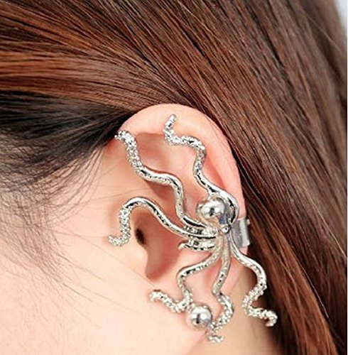 1pc Gold Silver Alloy Octopus Animal Ear Cuff Clip Earring Jewelry by Abcstore99